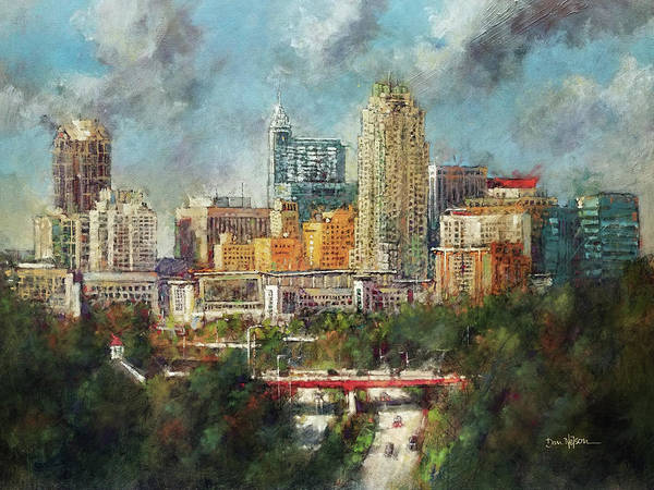 Wall Art - Painting - Skyline Festival by Dan Nelson
