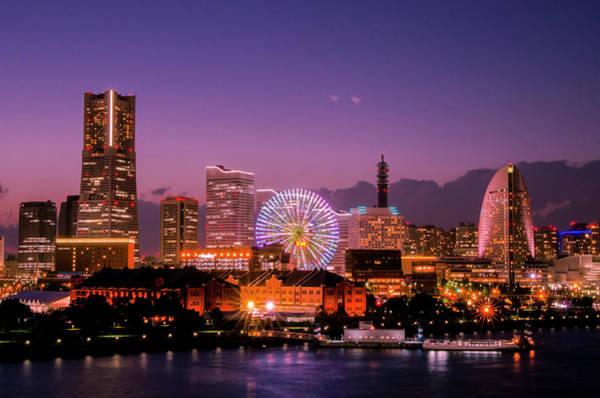 Kanagawa Wall Art - Photograph - Skyline From Ohsanbashi In Yokohama by Motodan