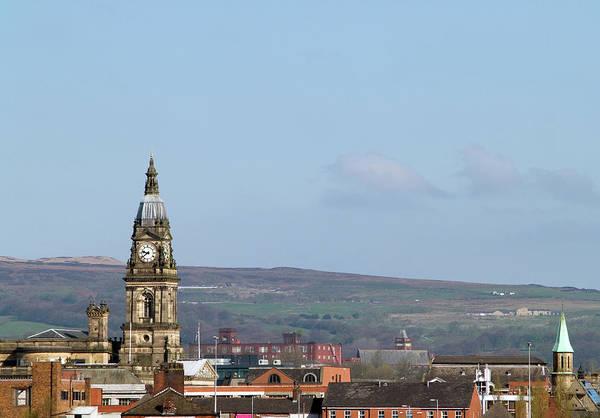 Greater Manchester Wall Art - Photograph - Skyline Of Bolton, Lancashire by Joeclemson