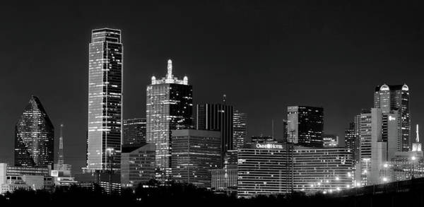 Photograph - Skyline Of Dallas B W 041719 by Rospotte Photography