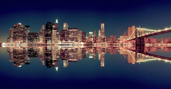 East Side Photograph - Skyline Of Mahattan By Night by Pawel.gaul