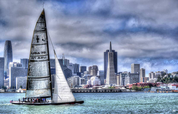 Photograph - Skyline Sail  San Francisco Ca by Wayne King
