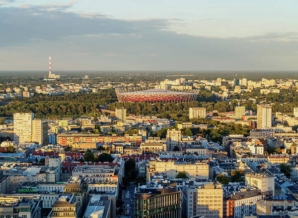 Wall Art - Photograph - Skyline Seen From The Palace Of Culture And Science City Center Warsaw Masovian Voivodeship Poland by imageBROKER - Karol Kozlowski