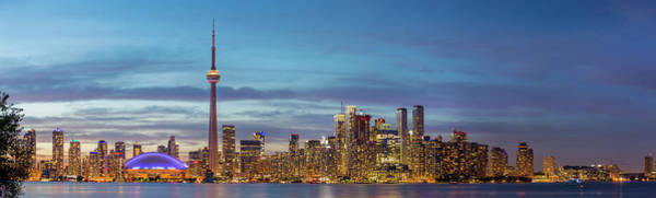 Wall Art - Photograph - Skylines And Cn Tower From Toronto by Panoramic Images
