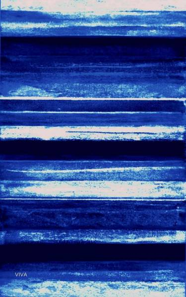 Painting - Skyscape-blue Abstract by VIVA Anderson