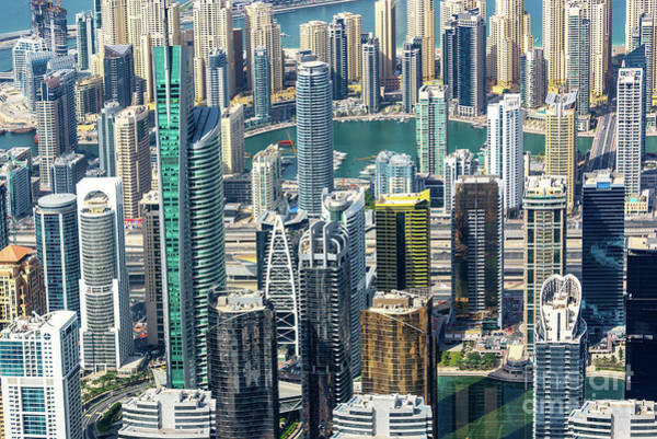 Wall Art - Photograph - Skyscrapers Forest In Dubai by Delphimages Photo Creations
