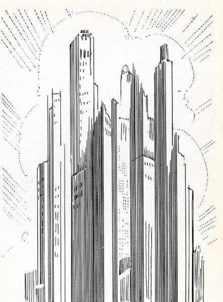 Archival Digital Art - Skyscrapers In American City by Graphicaartis
