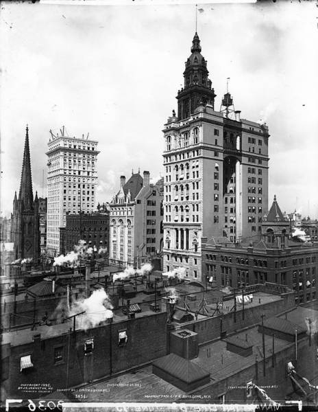 Trinity Photograph - Skyscrapers by The New York Historical Society