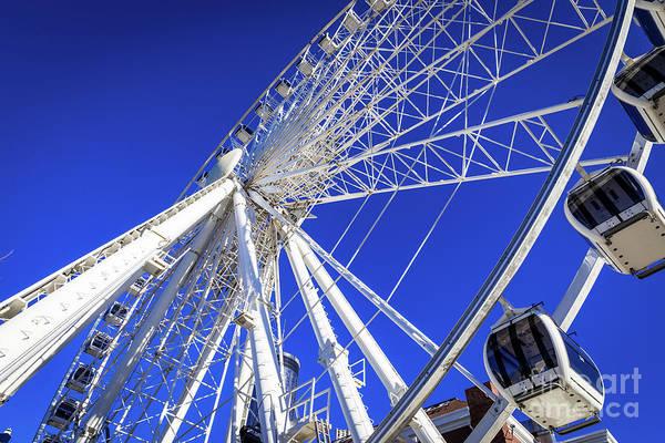 Photograph - Skyview Atlanta Ga Ferris Wheel 1 by Sanjeev Singhal