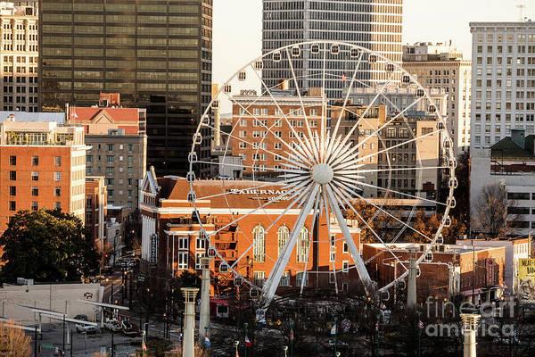 Photograph - Skyview Atlanta Ga Ferris Wheel 2 by Sanjeev Singhal