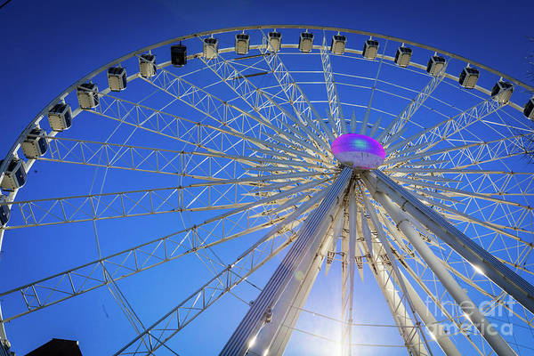 Photograph - Skyview Atlanta Ga Ferris Wheel 3 by Sanjeev Singhal