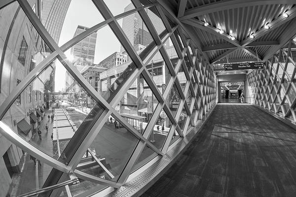 Photograph - Skyway To Minneapolis City Center by Jim Hughes