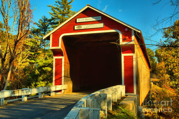 Photograph - Slate Covered Bridge by Adam Jewell