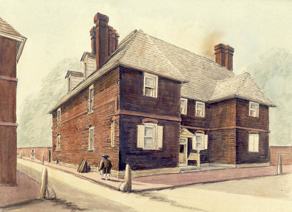 Drawing - Slate Roof House by William Breton