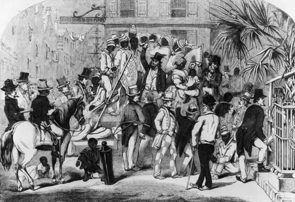 Charleston Digital Art - Slave Auction by Rischgitz