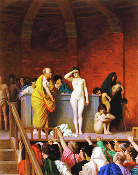 Trader Painting - Slave Market In Ancient Rome - Digital Remastered Edition by Jean-Leon Gerome