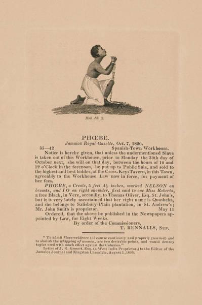 Wall Art - Photograph - Slave Phoebe 1826 by Daniel Hagerman
