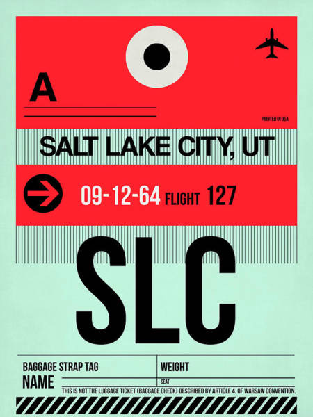 Wall Art - Digital Art - Slc Salt Lake City Luggage Tag I by Naxart Studio