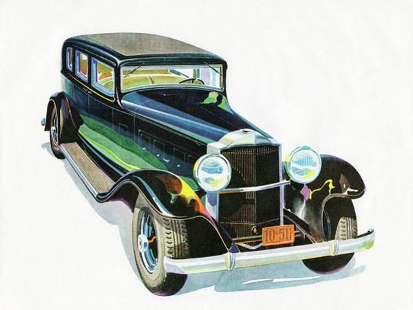 Fashion Plate Digital Art - Sleek 1930s Touring Sedan by Graphicaartis