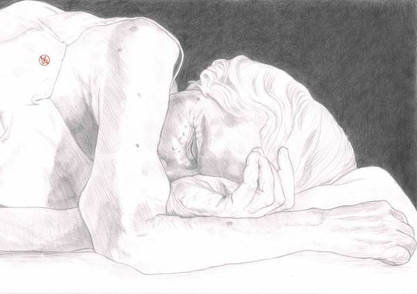 Wall Art - Drawing - Sleep And His Brother Death by Reboul Drawings