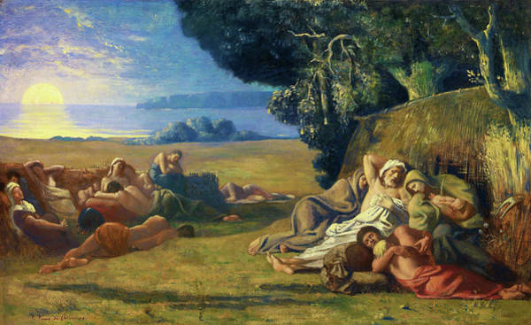 Wall Art - Painting - Sleep - Digital Remastered Edition by Pierre Puvis de Chavannes