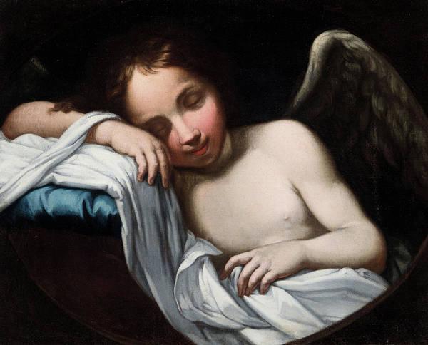 Gabriel Painting - Sleeping Angel by Florentine School of the 17th century