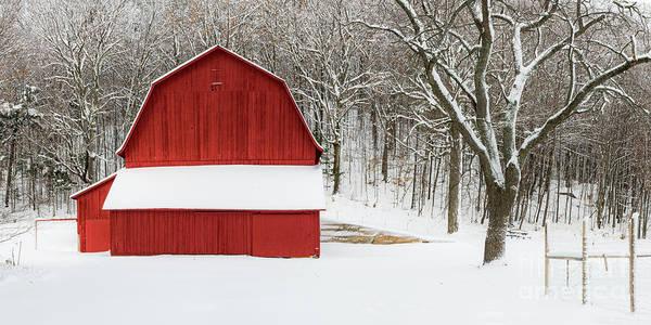 Wall Art - Photograph - Sleeping Bear Dunes Barn In Winter by Twenty Two North Photography