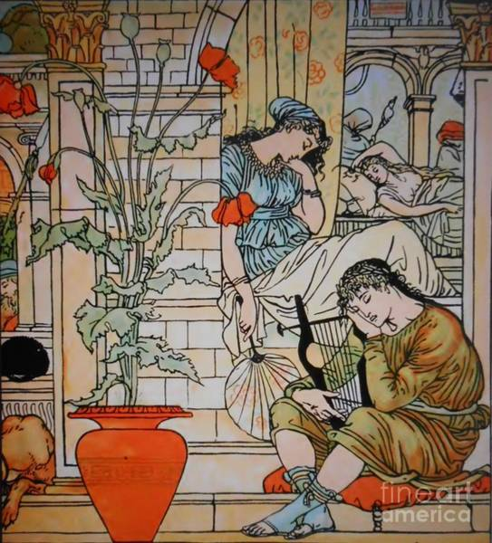 Painting - Sleeping Beauty-5 by Katerina Stamatelos