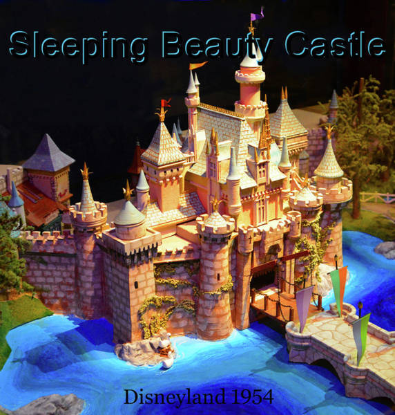 Wall Art - Mixed Media - Sleeping Beauty Castle 1954 by David Lee Thompson