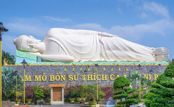 Photograph - Sleeping Buddha Vinh Trang Temple by Gary Gillette