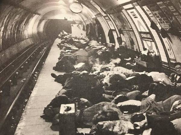 Wall Art - Photograph - Sleeping In The Tube by Lord Frederick Lyle Morris - Disabled Veteran