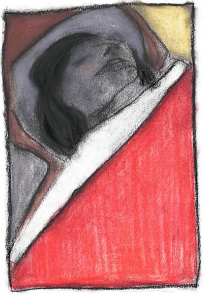 Pastel - Sleeping Woman In Bed by Artist Dot