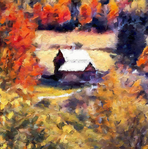 Painting - Sleepy Hollow Autumn Colors by Dan Sproul