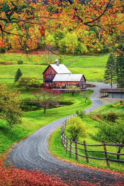 Photograph - Sleepy Hollow Farm In Vermont by Harriet Feagin