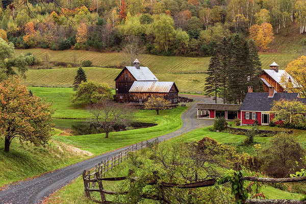 Photograph - Sleepy Hollow Farm Woodstock Vermont Fall 2018 by Terry DeLuco