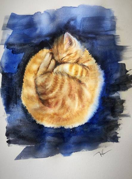 Painting - Sleepy Time by Katerina Kovatcheva