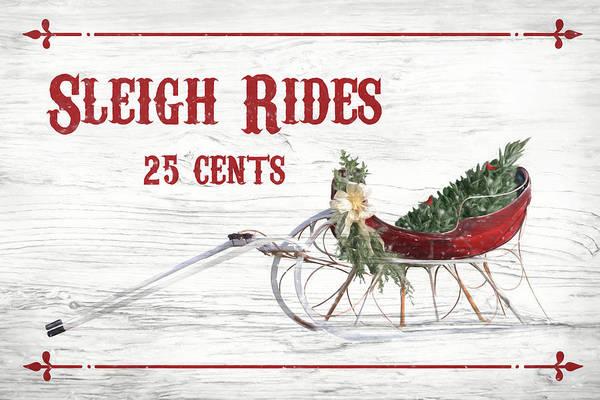Wall Art - Mixed Media - Sleigh Rides 25 Cents by Lori Deiter