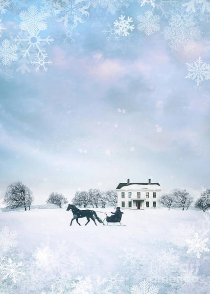 Photograph - Sleigh With Horse In Snow Winter Scene by Sandra Cunningham