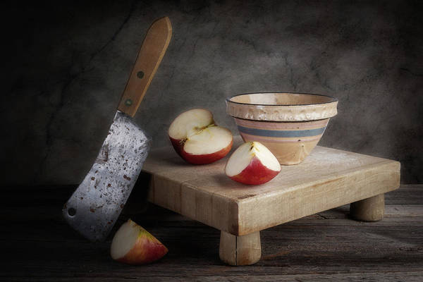 Fresh Photograph - Sliced Apple by Tom Mc Nemar