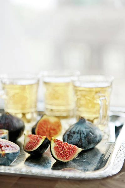 Switzerland Photograph - Sliced Fresh Figs With Herbal Tea by A.y. Photography