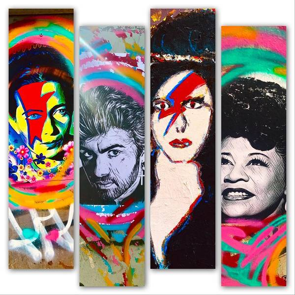 Wall Art - Photograph - Slices Of Iconic Stars by Funkpix Photo Hunter