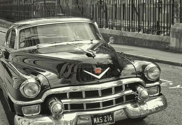 Photograph - Slick Black Cadillac by JAMART Photography