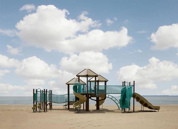 Photograph - Slide On Beach by Ed Freeman