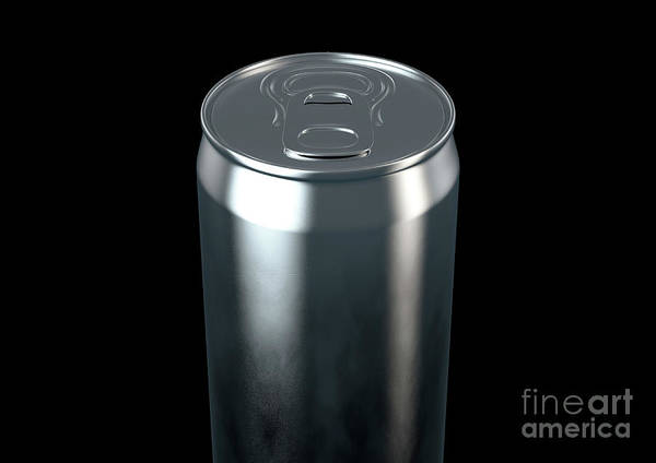 Wall Art - Digital Art - Slim Aluminum Can by Allan Swart