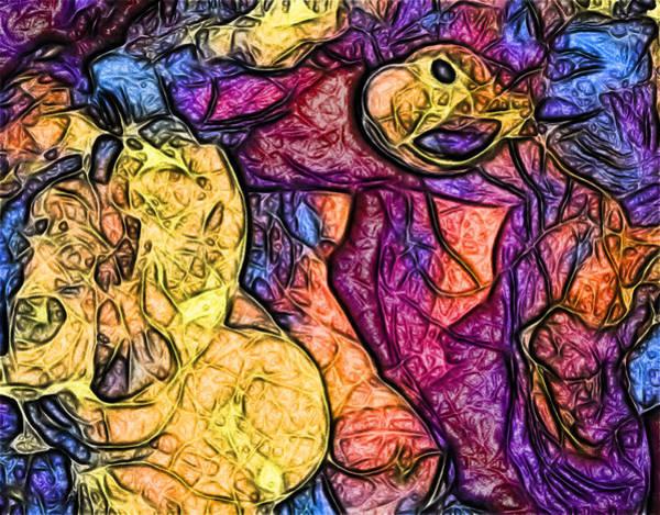Digital Art - Slimeblobs by Ajp