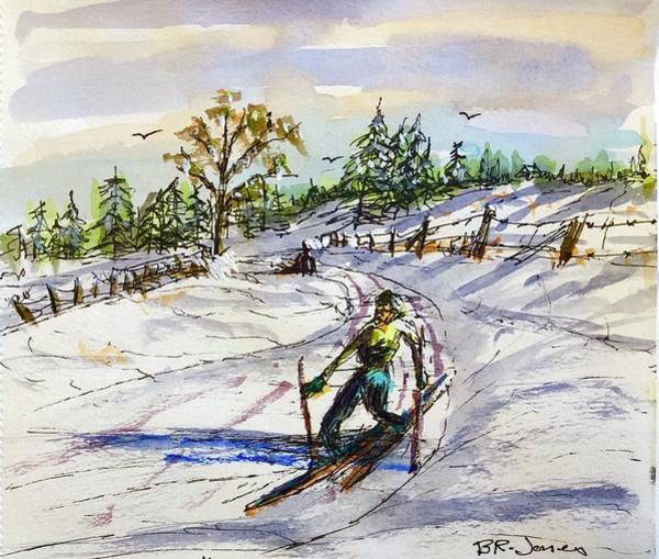 Painting - Slippery Slope by Barry Jones