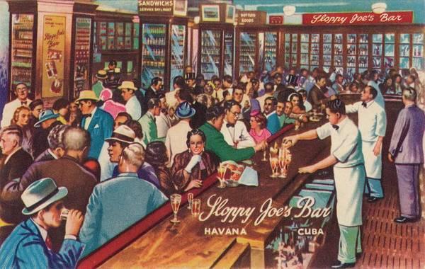 Waiter Photograph - Sloppy Joes Bar, Havana, Cuba, 1951 by Print Collector