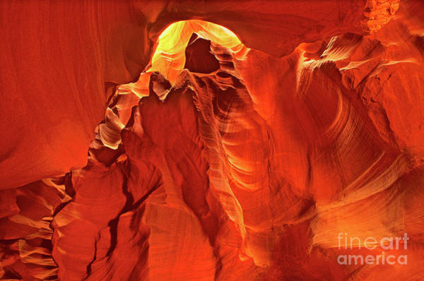 Photograph - Slot Canyon Formations In Upper Antelope Canyon Arizona by Dave Welling
