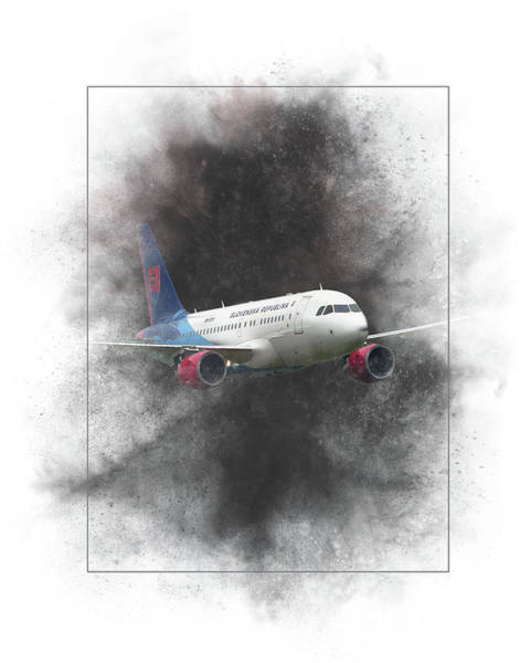 Wall Art - Mixed Media - Slovak Government Flying Service Airbus A319-115 Painting by Smart Aviation