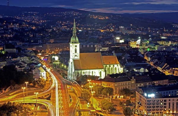 Bratislava Photograph - Slovakia, Bratislava, Cityscape by Allan Baxter
